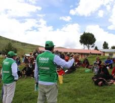 OEFA realizó talleres informativos en comunidades campesinas que se encuentran en el área de influencia de la unidad minera Las Bambas, en Apurímac