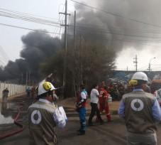 MINAM coordina acciones para verificar la calidad de aire y brinda recomendaciones para mitigar los efectos del incendio en la Av. Trapiche