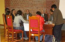 Mesa de Trabajo 2 analizando la problemática de la situación del ambiente urbano.