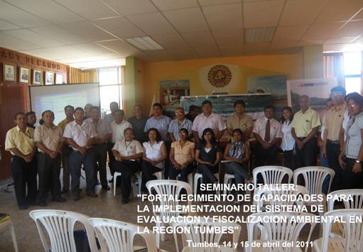 Funcionarios de las entidades públicas y privadas de Tumbes, comprometidos con la fiscalización ambiental, participaron en este importante taller sobre el SINEFA.