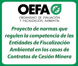 Proyecto de normas regulen comptetencia efas en cesion minera