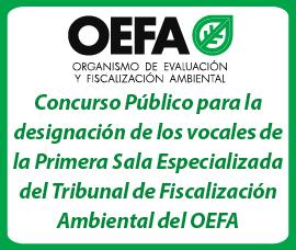 Concurso Público para la designación de los vocales de la Primera Sala Especializada del Tribunal de Fiscalización Ambiental del OEFA