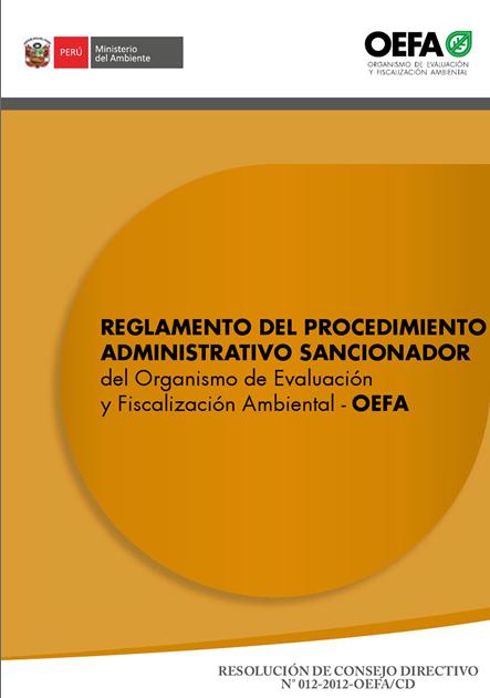 Reglamento del procedimiento administrativo sancionador