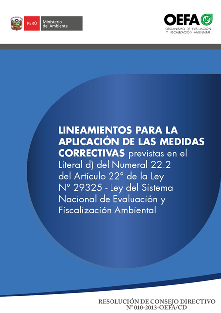 Lineamientos para la aplicación de medidas correctivas