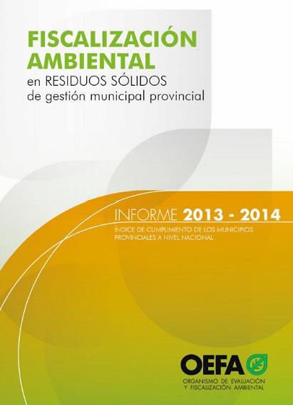 Fiscalización Ambiental en Residuos Sólidos de gestión municipal provincial