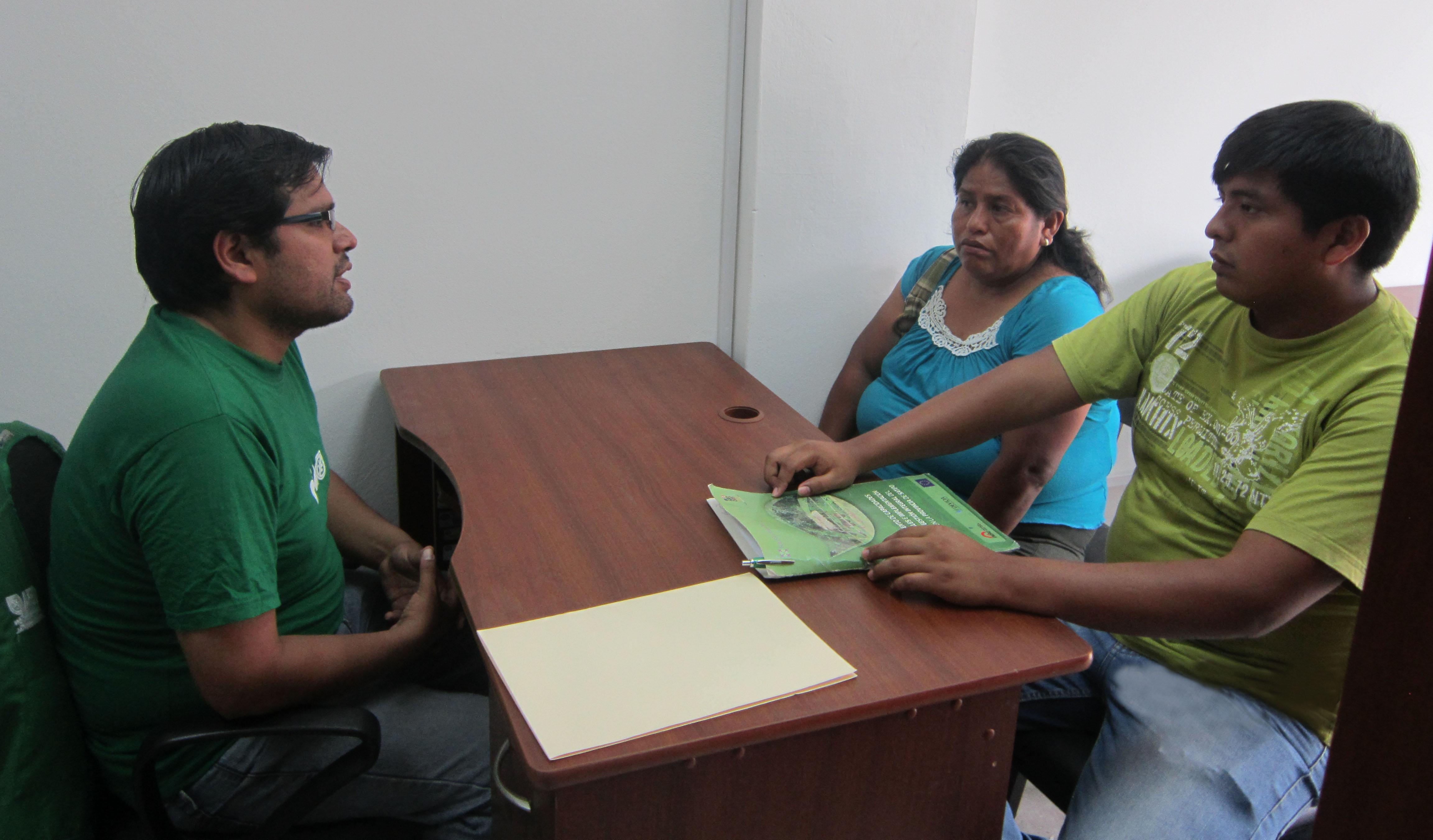 Desde el 1 de abril la oficina en Pichanaki ya viene recibiendo denuncias ambientales y brindando información a los ciudadanos
