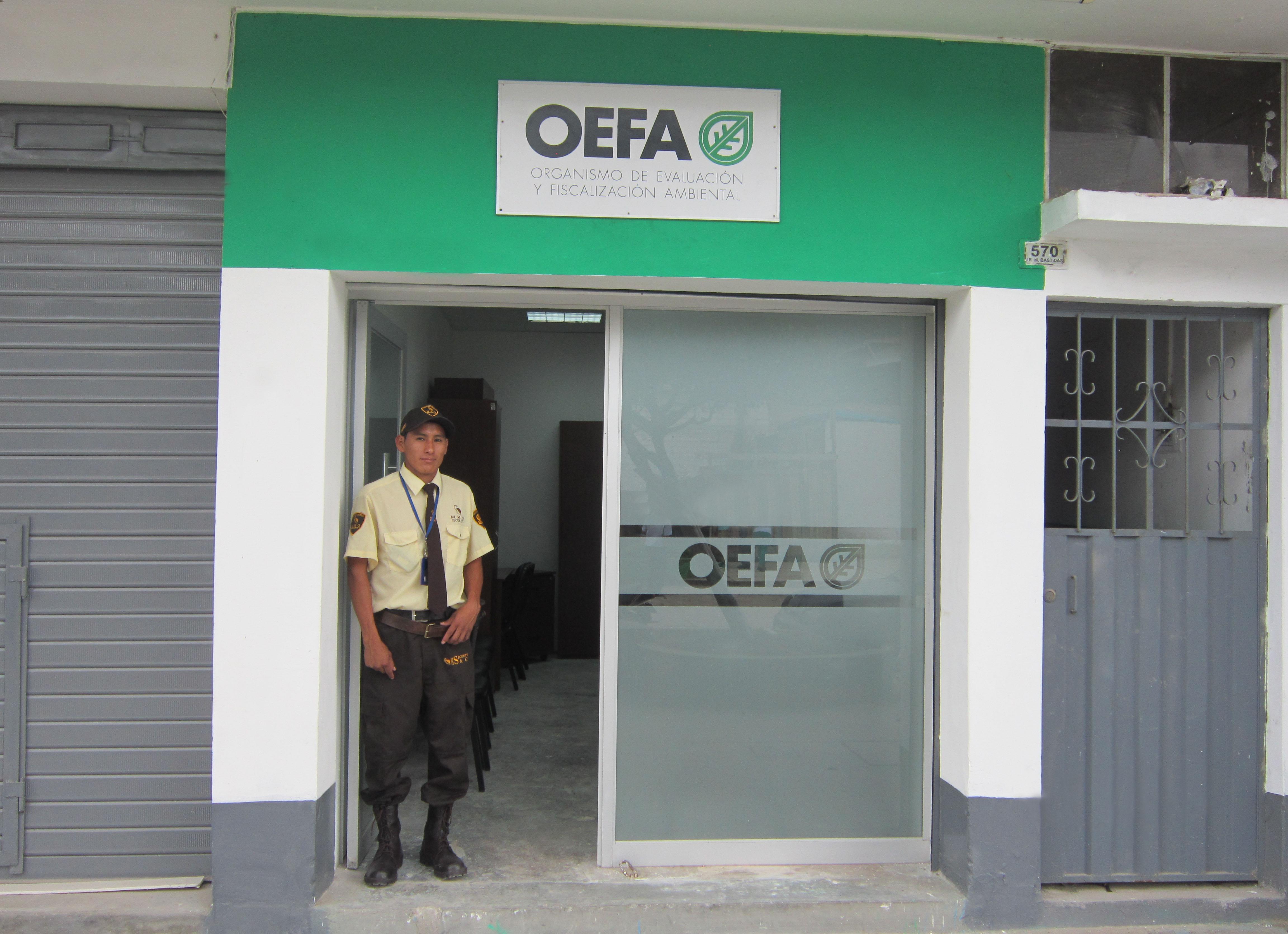 La oficina del OEFA en Pichanaki está ubicada en la calle Micaela Bastidas Nº 570