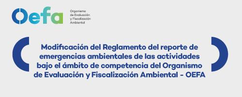 Modificación del Reglamento de reporte de emergencias ambientales