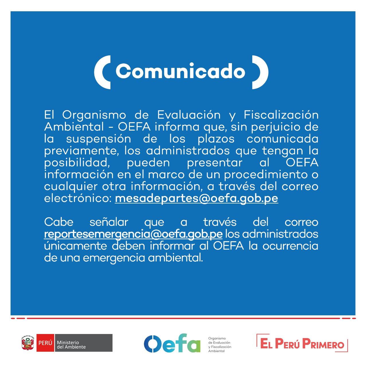 Comunicado Oefa