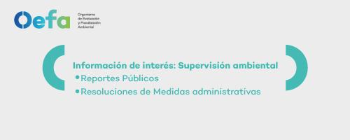 Información de interés: Supervisión ambiental