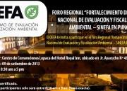 """Foro Regional """"Fortalecimiento del Sistema Nacional de Evaluación y Fiscalización Ambiental – SINEFA en Puno"""""""
