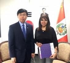Reunión de trabajo entre la Presidenta del OEFA y el Embajador de la República de Corea