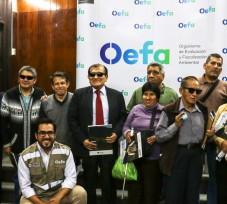 OEFA realiza primera charla informativa sobre sus funciones y competencias a personas con discapacidad visual