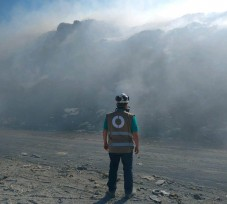 OEFA supervisa incendio en Botadero Municipal Coishco en Chimbote
