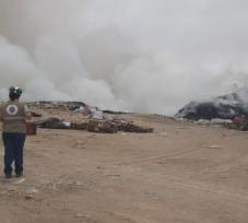 Oefa supervisa incendio en el  botadero Alto Intiorko en el departamento de Tacna