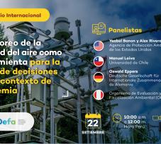 El OEFA organizó el Conversatorio Internacional: «Monitoreo de la calidad del aire como herramienta para la toma de decisiones en un contexto de pandemia»