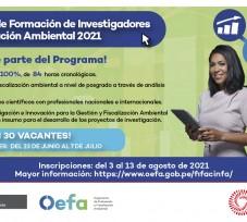OEFA lanza Programa de Formación de Investigadores en Fiscalización Ambiental para estudiantes de maestría y doctorado