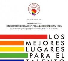OEFA recibe certificación Presente por su gestión del talento humano con enfoque en la diversidad LGBTIQ+