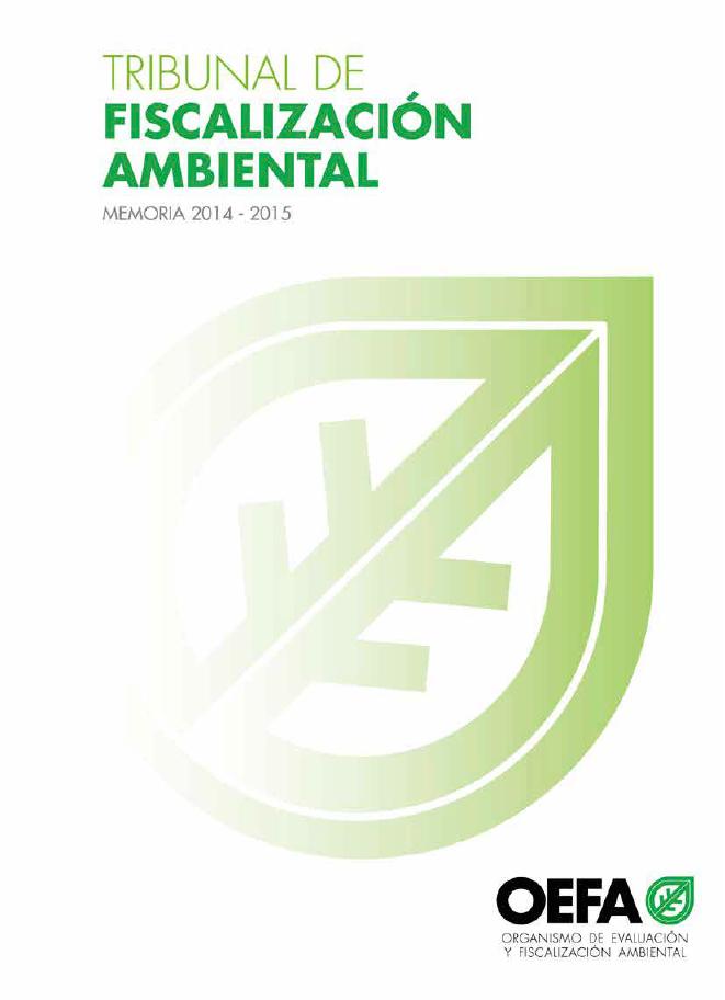 Memoria 2014 – 2015 Tribunal de Fiscalización Ambiental