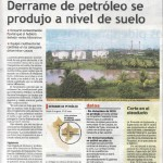 Derrame de petróleo se produjo a nivel de suelo