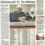 OEFA impuso multas a mineras por s/. 16 millones