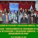 OEFA ofrece Seminario Taller en Puno para elaborar Plan Anual de Evaluación y Fiscalización Ambiental