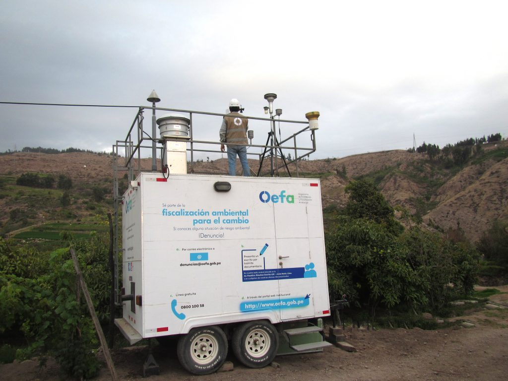 OEFA instala unidad de monitoreo de calidad de aire en Cuajone