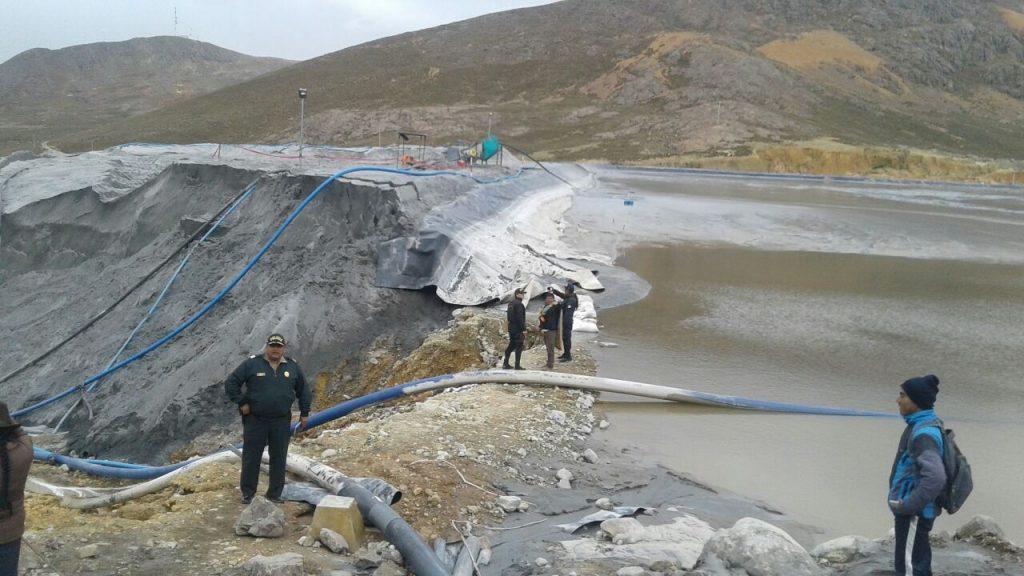 OEFA supervisa derrame de relave en Áncash