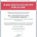 6 iniciativas del OEFA reconocidas como Buenas Prácticas en Gestión Pública 2018