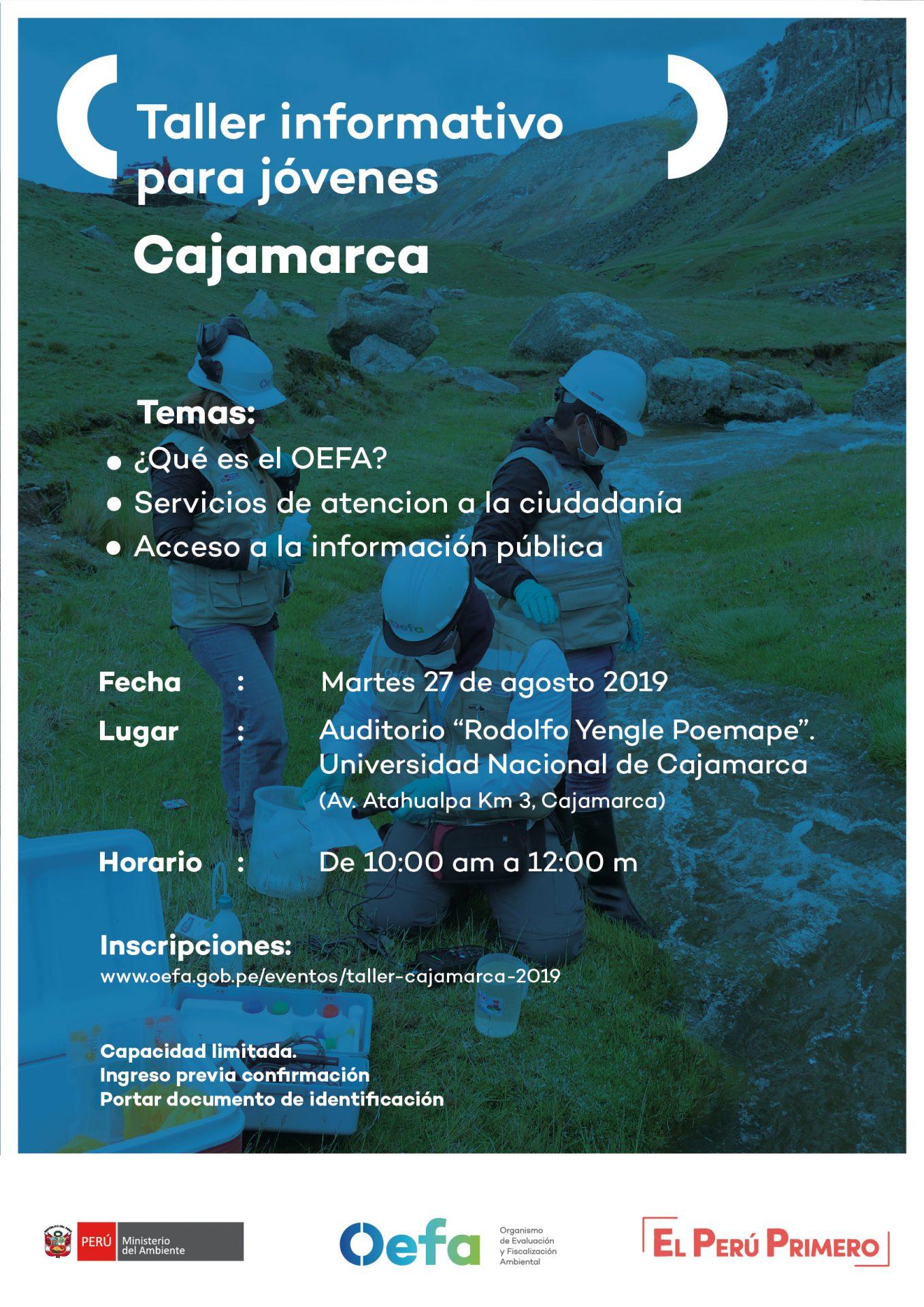 Taller Informativo OEFA para jóvenes – Cajamarca
