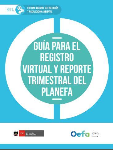 Guía para el registro virtual y reporte trimestral del Planefa
