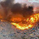 OEFA supervisa incendio ocurrido en el relleno sanitario de Ica