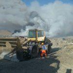 OEFA supervisa incendio en el botadero de Huacho